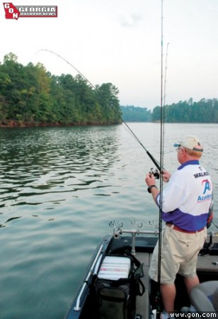 Slab tactics from pros for georgia s best crappie lakes for Crappie fishing in ga